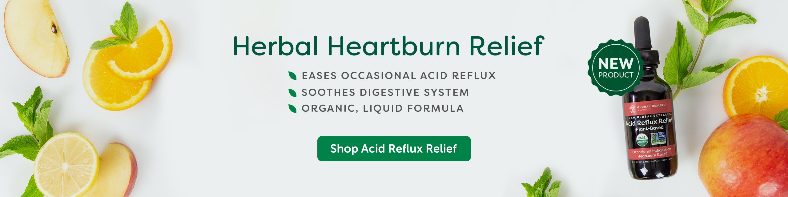 A bottle of Acid Reflux Relief