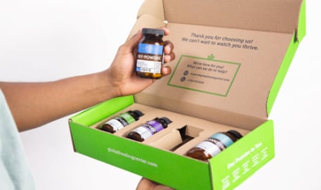 Open box displaying the Gut Health Kit Program