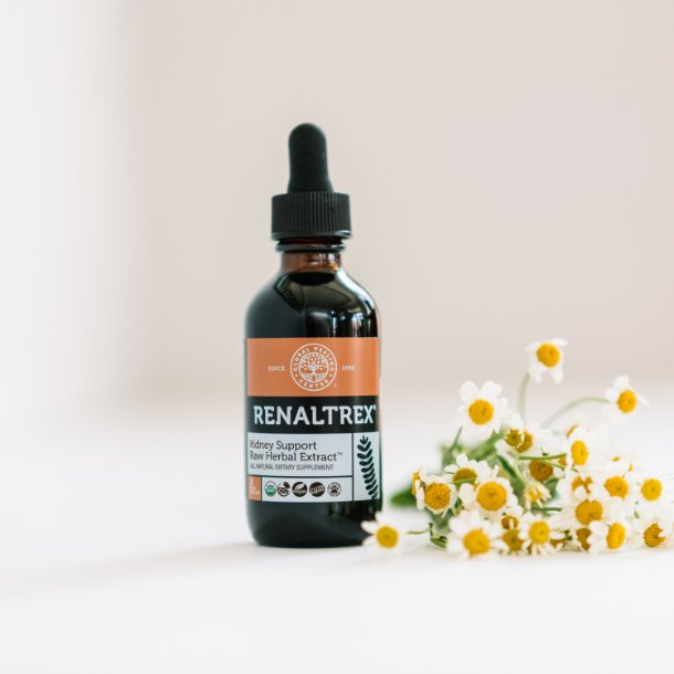 A bottle of Global Healing's Renaltrex.