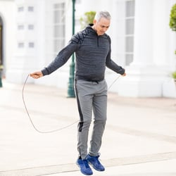 Longer Endurance – Middle-aged man jump roping