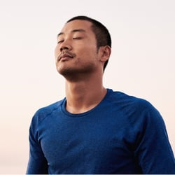 Turns Up the Immune System – Man with eyes closed meditating