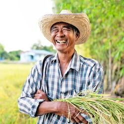 Most Effective Form of Iodine – Man joyfully smiling on a farm