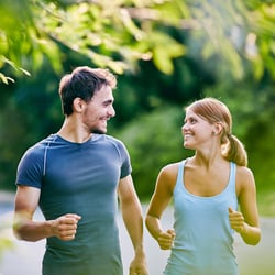 Boosts Stamina – Couple jogging in the park
