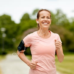Boosts the Immune System – Woman jogging outdoors