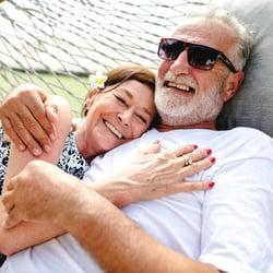 A couple on a hammock