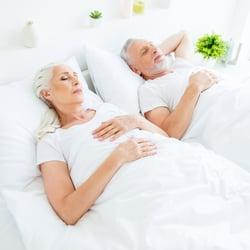 Encourages Restful Sleep – Couple restfully sleeping