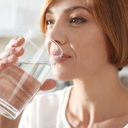 Someone drinking water